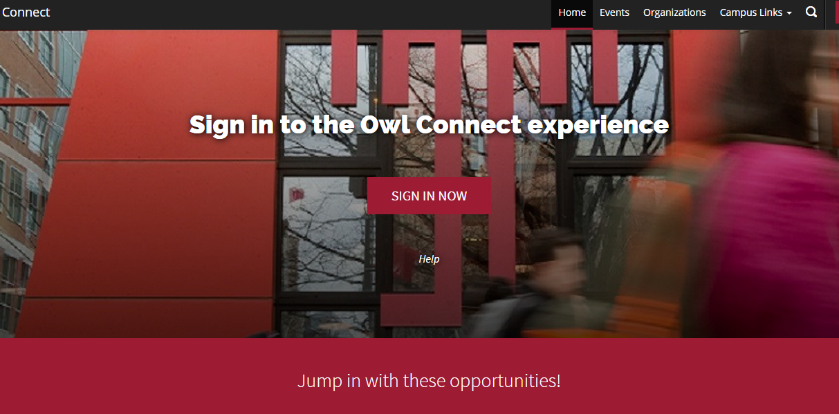 Owl Connect page screen shot