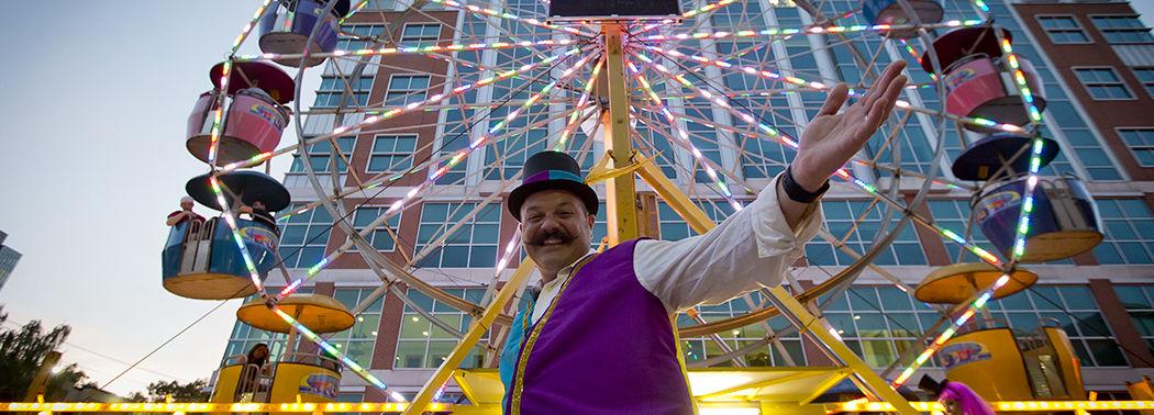 Ferris wheel on campus