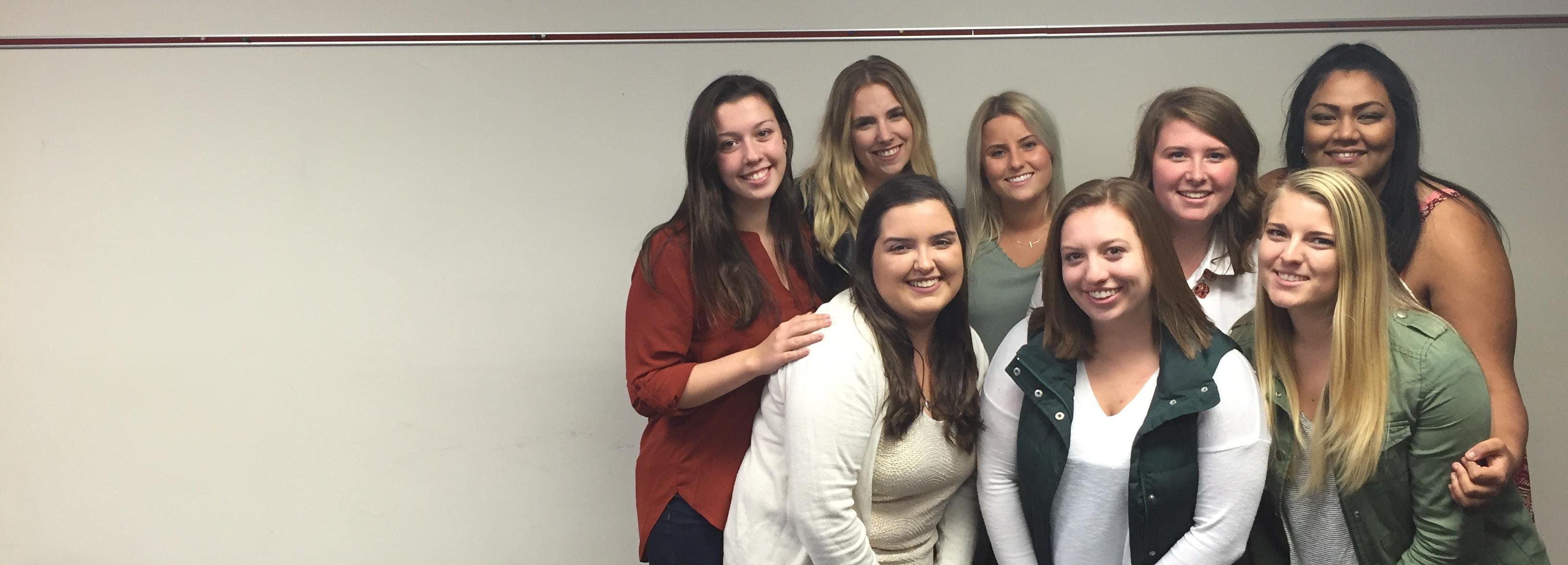 Panhellenic Association executive board at Temple