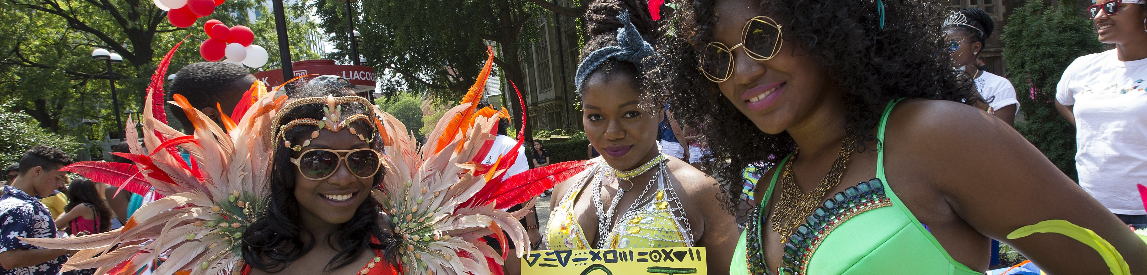 Students from SOCA wearing cultural dress at TempleFest